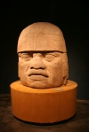 An Olmec head from the oldest civilization in Mexico