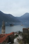Pretty much all you need to know about Perast: stone buildings and two islands.